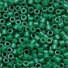 Miyuki Delica Seed Beads Size 11/0 Dyed Opaque Jade Green 7.2g (DB656)
