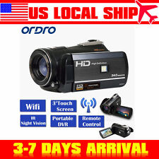 """US! ORDRO D395 1080P HD WIFI Digital Video Camera 24MP 18XZoom 3.0"""" Touch Screen"""