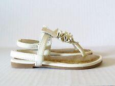 Healthtex White Ruffle Sling-back Sandals in Size 4 (Infant/Toddler)