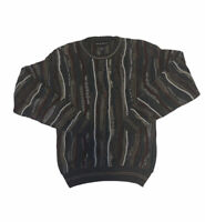 Vintage 90s Croft And Barrow Sweater Mens Small Hip Hop 3D Textured Coogi Style