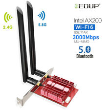 EDUP AC 3000Mbps Intel AX200 Bluetooth 5.0 WiFi Adapter PCI-E Wireless Card