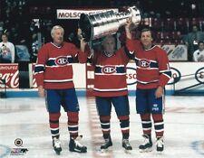BELIVEAU/RICHARD/LAFLEUR STANLEY CUP Unsigned 8x10 Photo Montreal Canadiens