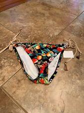 Nanette Lepore Bikini Bottoms Swimsuit Sample Fruit Side Tie Small NWT (118)