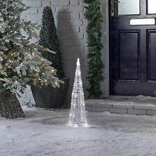 LED Warm White Christmas Tree Lights Pyramid Decoration Xmas Outdoor Indoor 60cm