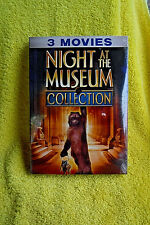 BRAND NEW/SEALED 2/3 DVD SET! NIGHT AT THE MUSEUM 3 FLM COLLECTION! BEN STILLER!