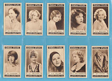 CINEMA - RICHARD LLOYD & SONS -  RARE SET OF  25  CINEMA  STARS   CARDS  -  1937