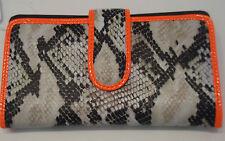 Mundi Ladies Vegas Python Wallet,Orange