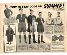 1957 BOY SCOUTS Summer Clothing Uniforms w/Prices VTG PRINT AD