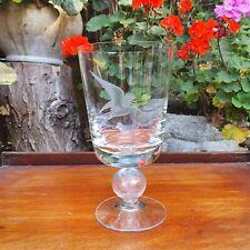More details for blown glass - large 19cm crystal goblet trophy - tern seabird marine marsh bird
