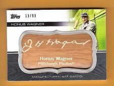 HONUS WAGNER 2010 TOPPS MANUFACTURED BAT BARREL CARD #d19/99 PITTSBURGH PIRATES