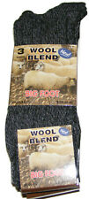 3 PAIRS OF MENS THICK DARK COLOURED WOOL BLEND BIG FOOT SOCKS - UK SIZE 11-14