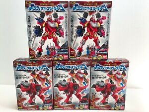 Power Rangers RYUSOULGER Mini Pla 01 Kishiryuoh Three Knights Megazord NEW F/S
