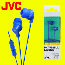 JVC HA-FR15-A Blue Gumy Stereo Bass Headphone Earphones for iPod iPhone Android