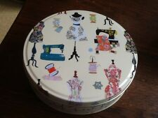 Louise Cunningham round Sewing Tin,  17x4.5cms,