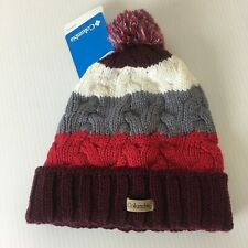 Columbia Carson Pass Cuffed Pom Beanie Winter Hat Unisex One Size Acrylic NWT