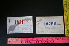 2 QSL Cards Norway Radio broadcasting