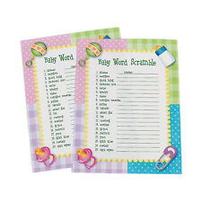24 Baby Shower Word Scramble Games Activity PARTY DECOR BOY GIRL PINK BLUE