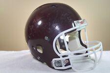 Riddell Adult Game Used Worn Revolution Football Helmet Maroon Large Opo 85