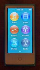 Apple iPod Nano 7th Generation Blue Mint Condition Music Fitness Bluetooth