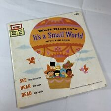 NOS Disney Its a Small World Read-Along Book NO Cassette Tape