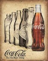 COKE - The Real Thing Vintage Retro Tin Metal Sign 13 x 16in