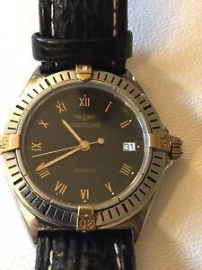 BREITLING CALLISTO Unisex Quartz Watch SS/Gold B7045 W/Travel box/case included