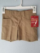Dickies Girls School Uniform Shorts Classic Fit L-Pocket Tan Size 4