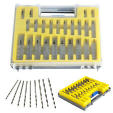 150pcs mini micro Power brocas de HSS revestidas set Twist kits barrenas 0.4-3.2mm con Box