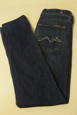 Seven 7 For All Mankind Womens Roxanne Jeans Size: 25 x 28 Dark Blue Light Wash