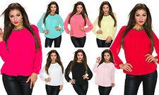 Klassische hüftlange Langarm Damenblusen, - tops & -shirts ohne Muster