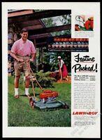 1957 Lawn Boy mower color photo vintage print ad
