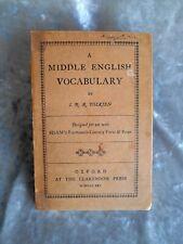 TOLKIEN. A Middle English Vocabulary - 1925.(Il signore degli anelli. Hobbit.)