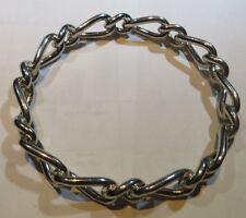 Bracelet de métal plaqué argent rigide – maille américaine -