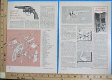 1961 SMITH & WESSON 38 Military & Police Revolver EXPLODED VIEWS Article 9811