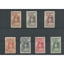 Suriname 104-110 Wilhelmina 1923  VFU/gebr  CV  636 €