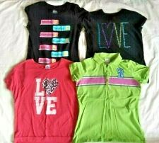 Lot of 4 Youth Girls Clothes Short Sleeve Shirts Size 14/16 Love Day of the Week