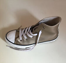 Girls CONVERSE ALL STAR Gold Hi Tops Trainers - Size UK 13