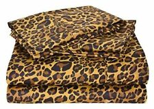 Super Deep Pocket 800 TC 100% Egyptian Cotton 4 PCs Sheet Set Leopard Print