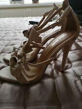 Gorgeous Strappy/Bow Beige Heels Size 5!