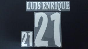 LUIS ENRIQUE #21 Spain Home World Cup 1998 Name Set
