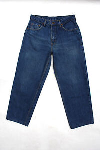 LEVIS 545 VINTAGE 80s MENS BLUE DENIM JEANS GOLD TAB LOOSE FIT W33 L34 LOOK!!