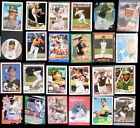 Lot of 25 MLB OAKLAND A's Baseball Trading Cards - assorted players & years
