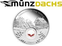 $1 Dollar Treasures of the World Garnet Australia 1 oz Silver 2013 Locket coin