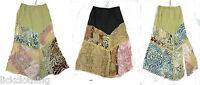 Womens New Pencil Multi Print Skirt Lace strip Detail One Size 6 8 10 *LICK*