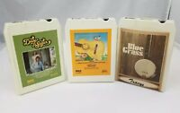 Classic Country 8 Track Tapes Set of 3 Country Gold, Dave & Sugar, Bluegrass