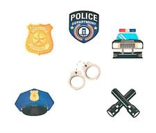 72 Everyday Police Department Temporary Tattoos Birthday Party Favors