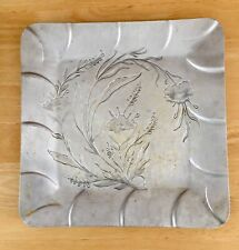 """Vintage Everlast Aluminum 12"""" Square Hand Forged Serving Tray"""