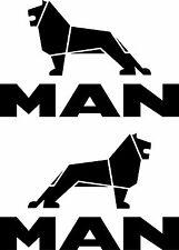 2 x MAN LKW Aufkleber Logo und Schriftzug 300x200 mm Decals  MAN Truck Stickers