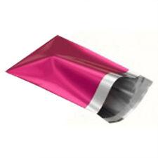"""10 Metallic Pink 14""""x16"""" Mailing Postage Postal Bags"""