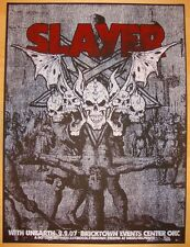 2007 Slayer & Unearth - Oklahoma City Silkscreen Concert Poster by Jared Connor